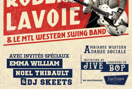 Un spectacle unique au Québec : Robert Lavoie et le «Mtl Western Swing Band» en grande première au Lion d'Or